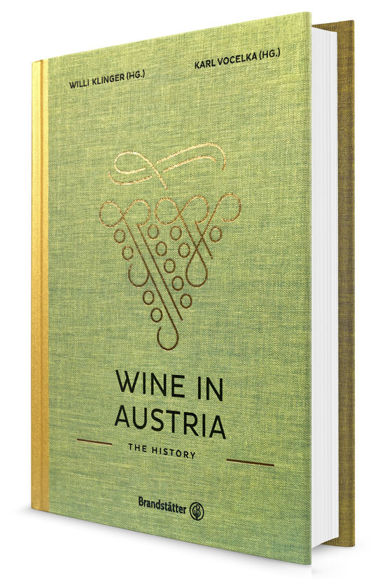 Sage green cover of the book Wine in Austria: The History