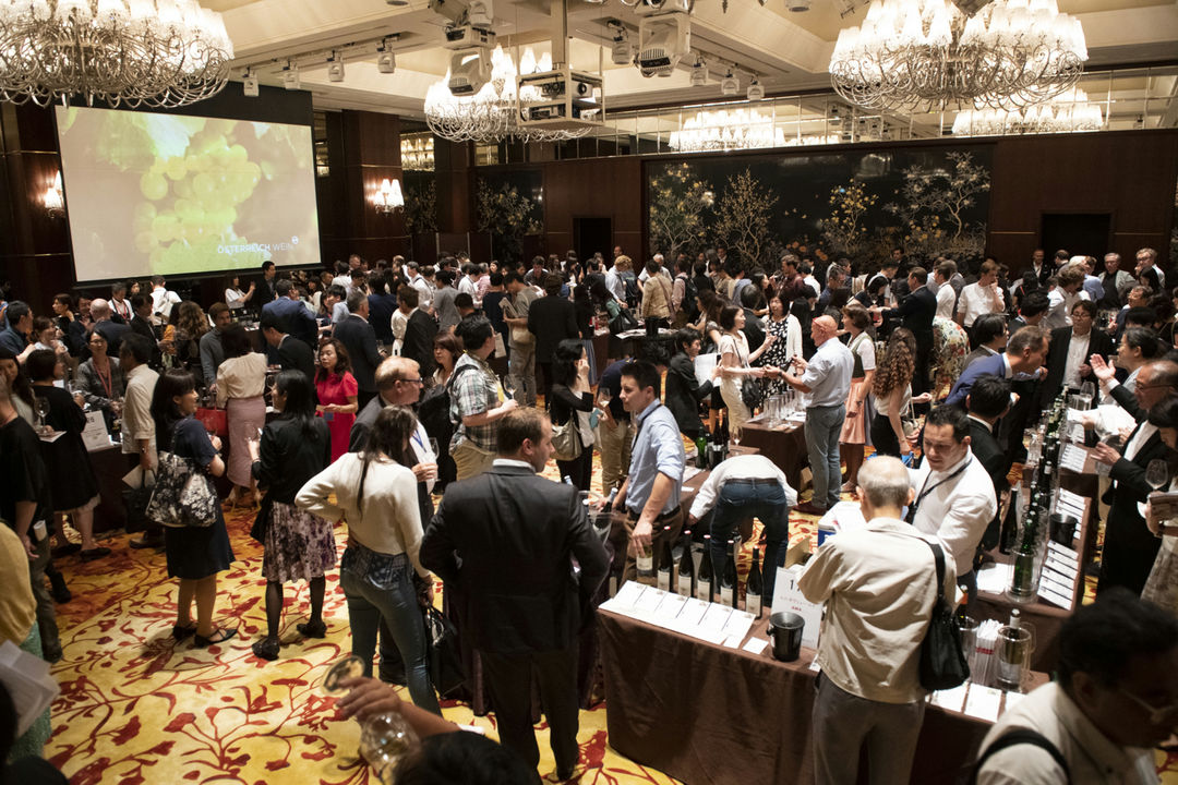 A picture shows Austrian Tasting Tokyo in the Shangri-La Hotel, © AWMB