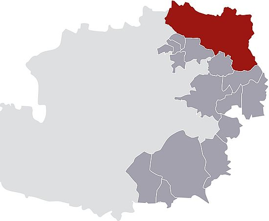 A picture shows the Weinviertel DAC region
