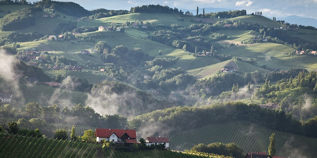 A picture shows a panorama view over the southern Styria
